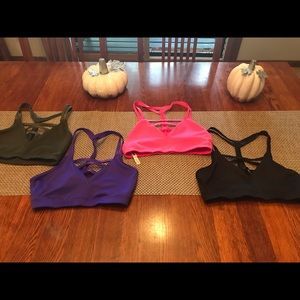 Four Victoria's Secret grid bras. Size  xs.